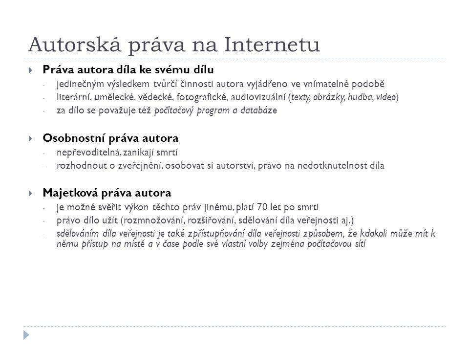 Autorská práva na Internetu