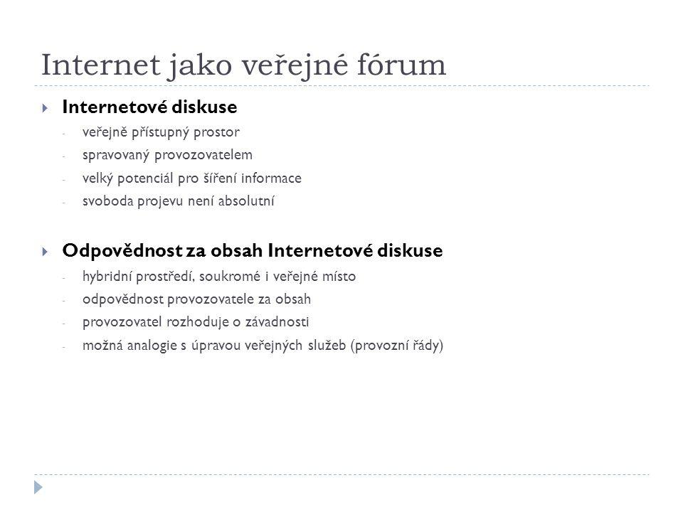 Internet jako veřejné fórum