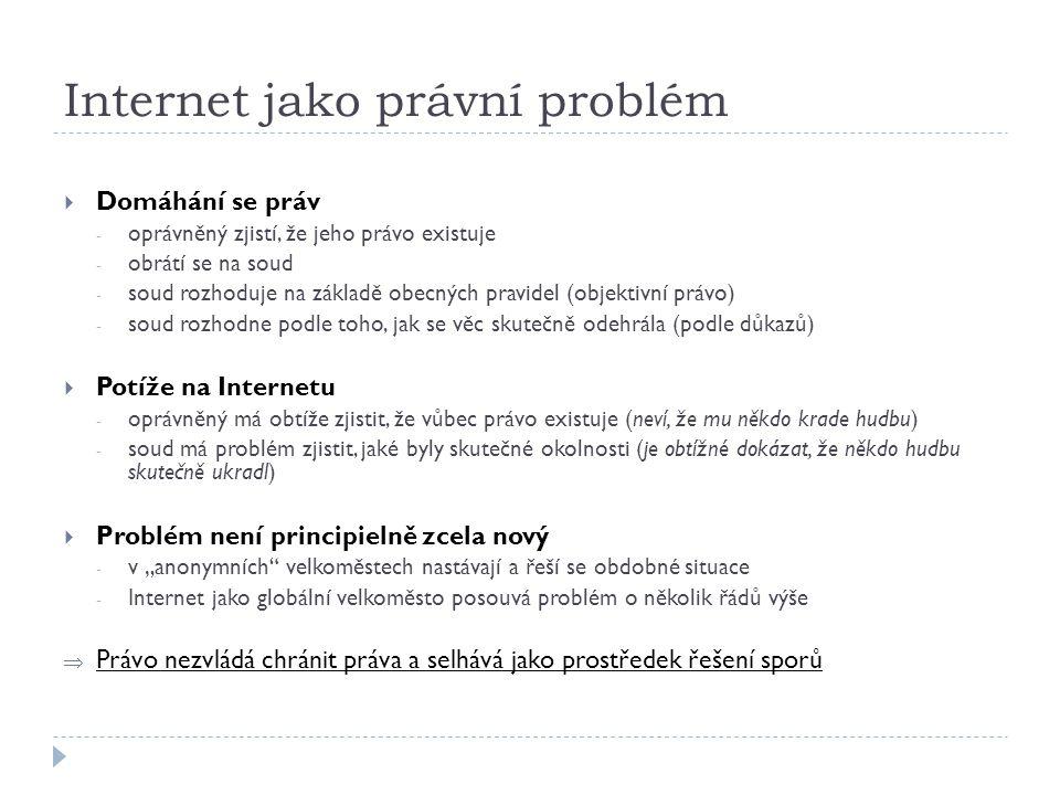 Internet jako právní problém