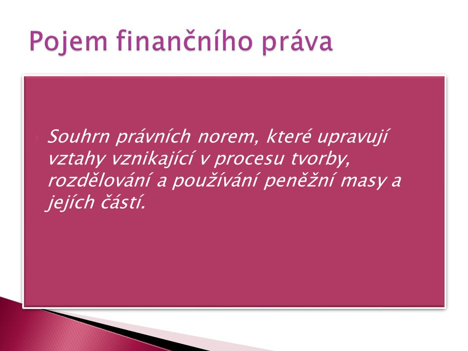 Pojem finančního práva