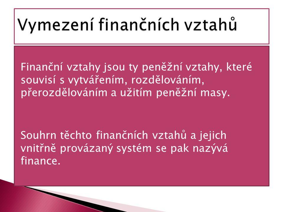 Vymezení finančních vztahů