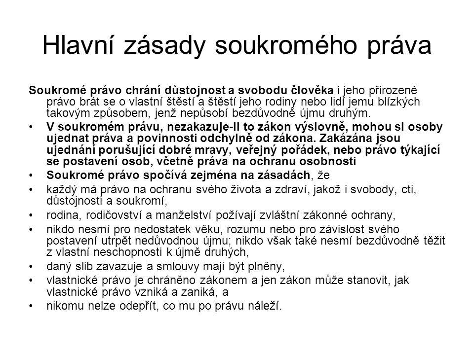 Hlavní zásady soukromého práva