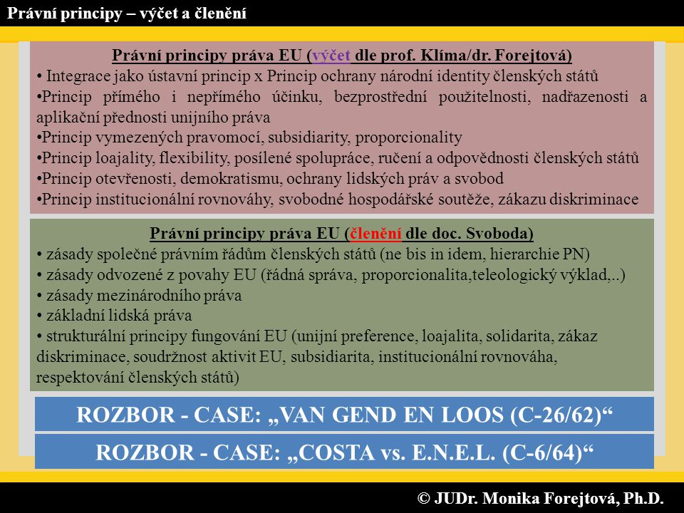 "ROZBOR - CASE: ""VAN GEND EN LOOS (C-26/62)"