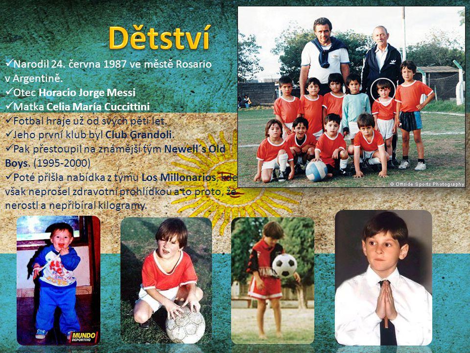 Dětství Narodil 24. června 1987 ve městě Rosario v Argentině.