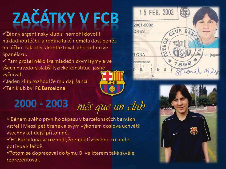 Začátky v FCB