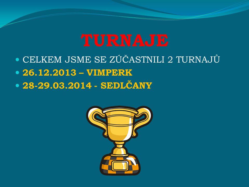 TURNAJE CELKEM JSME SE ZÚČASTNILI 2 TURNAJŮ 26.12.2013 – VIMPERK