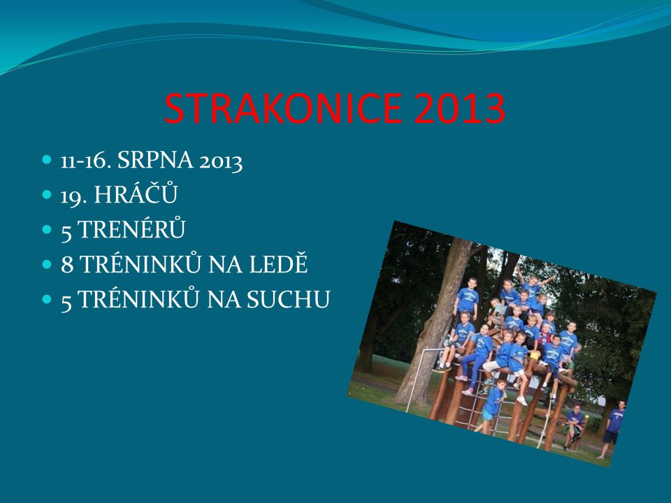 STRAKONICE 2013 11-16. SRPNA 2013 19. HRÁČŮ 5 TRENÉRŮ