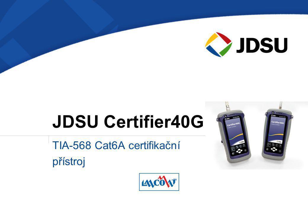 TIA-568 Cat6A certifikační přístroj