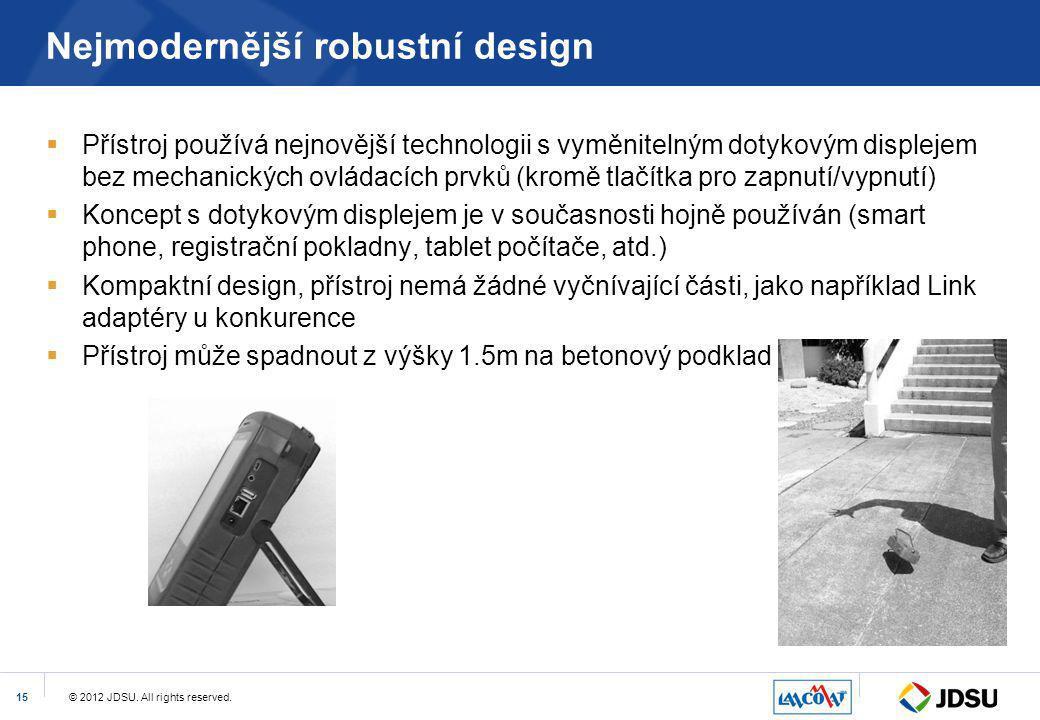 Nejmodernější robustní design