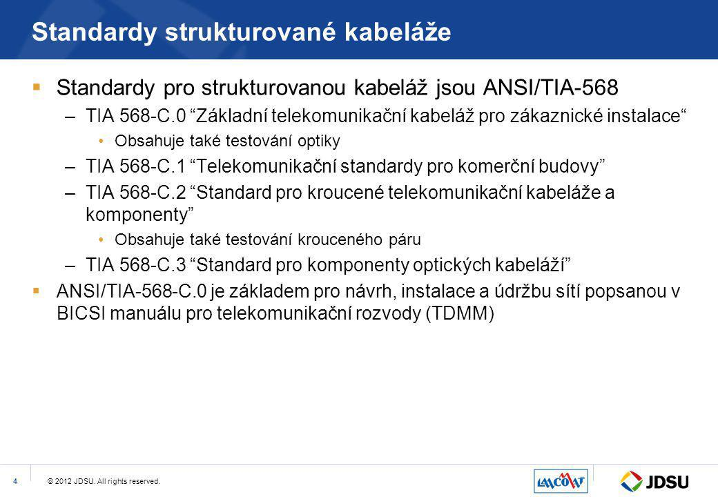 Standardy strukturované kabeláže