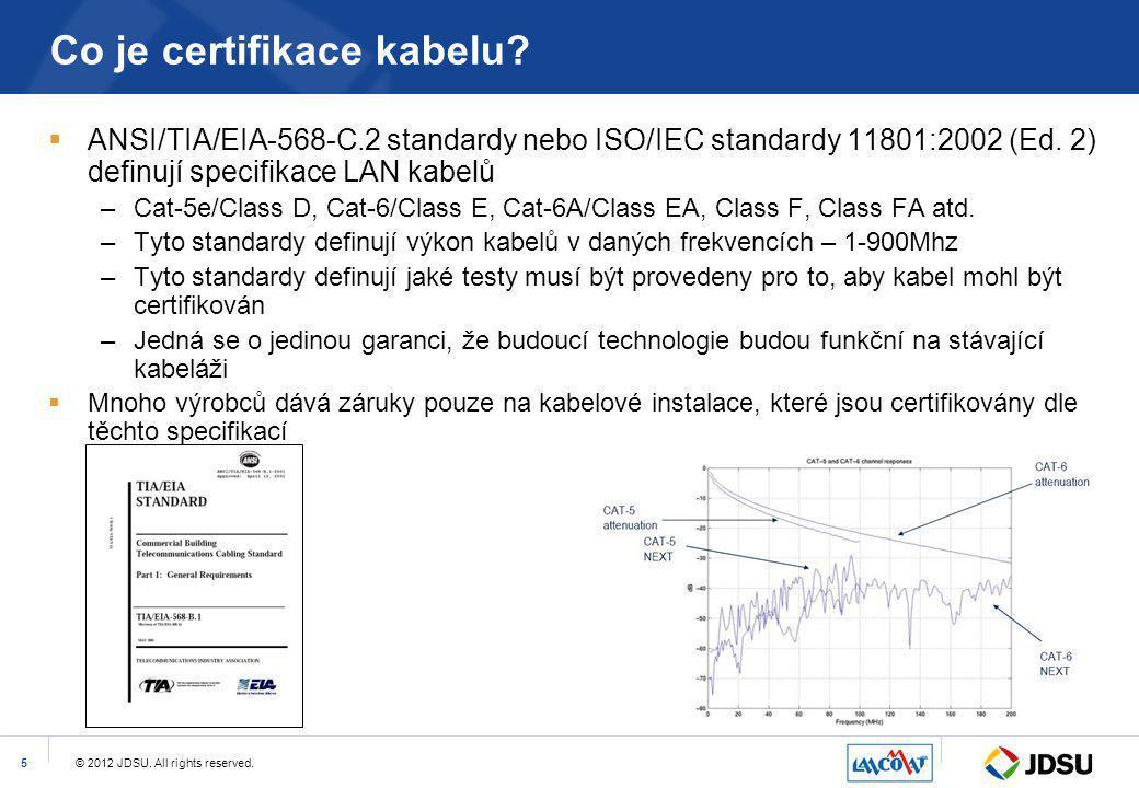 Co je certifikace kabelu