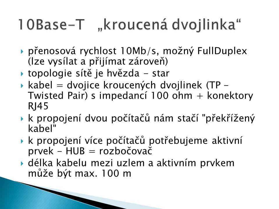 "10Base-T ""kroucená dvojlinka"