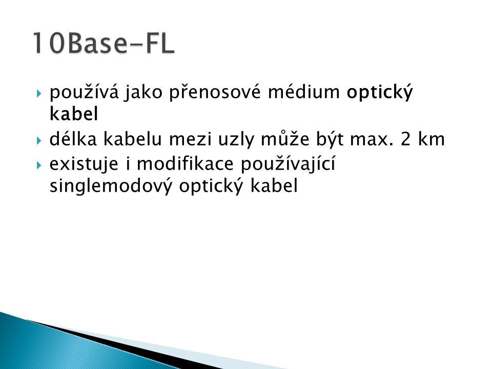 10Base-FL používá jako přenosové médium optický kabel