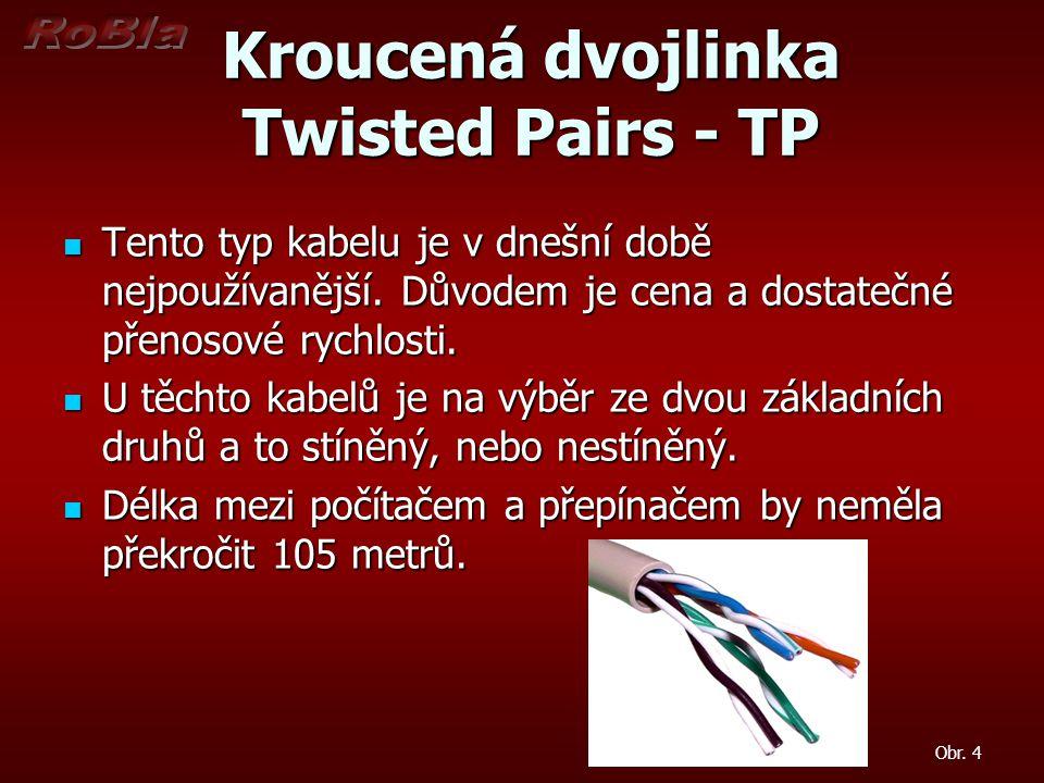 Kroucená dvojlinka Twisted Pairs - TP