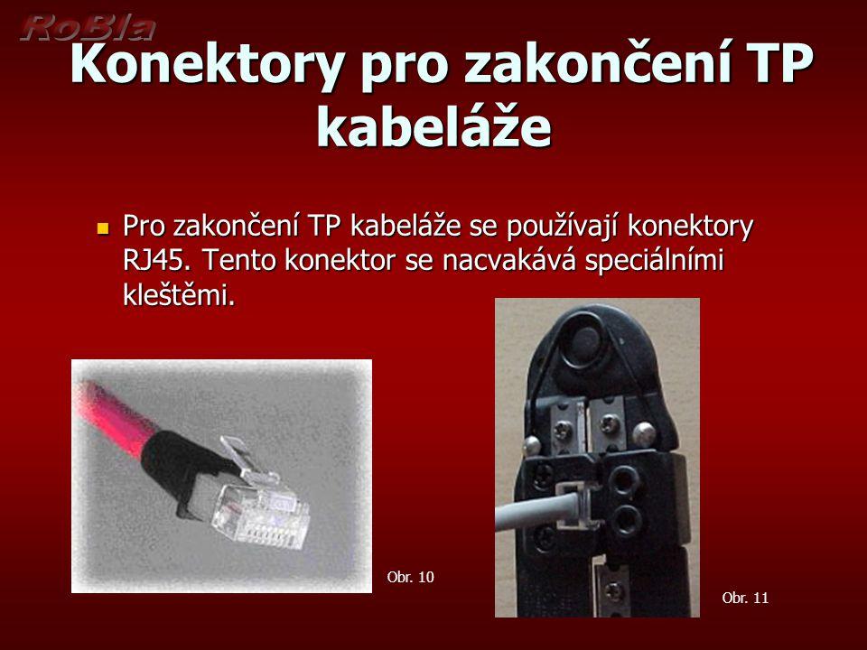 Konektory pro zakončení TP kabeláže