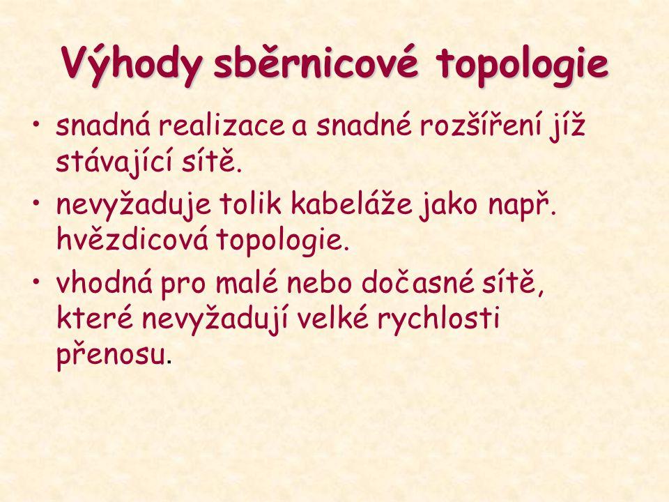 Výhody sběrnicové topologie
