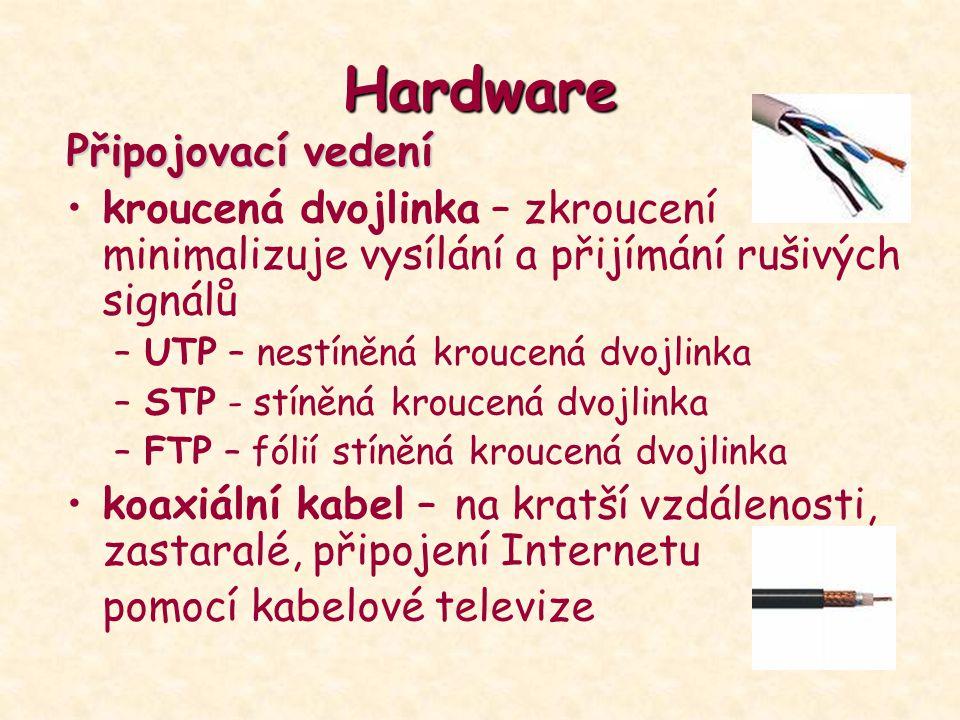 Hardware Připojovací vedení