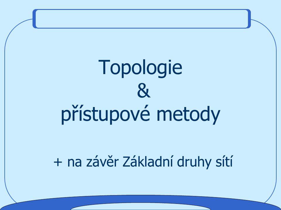 Topologie & přístupové metody