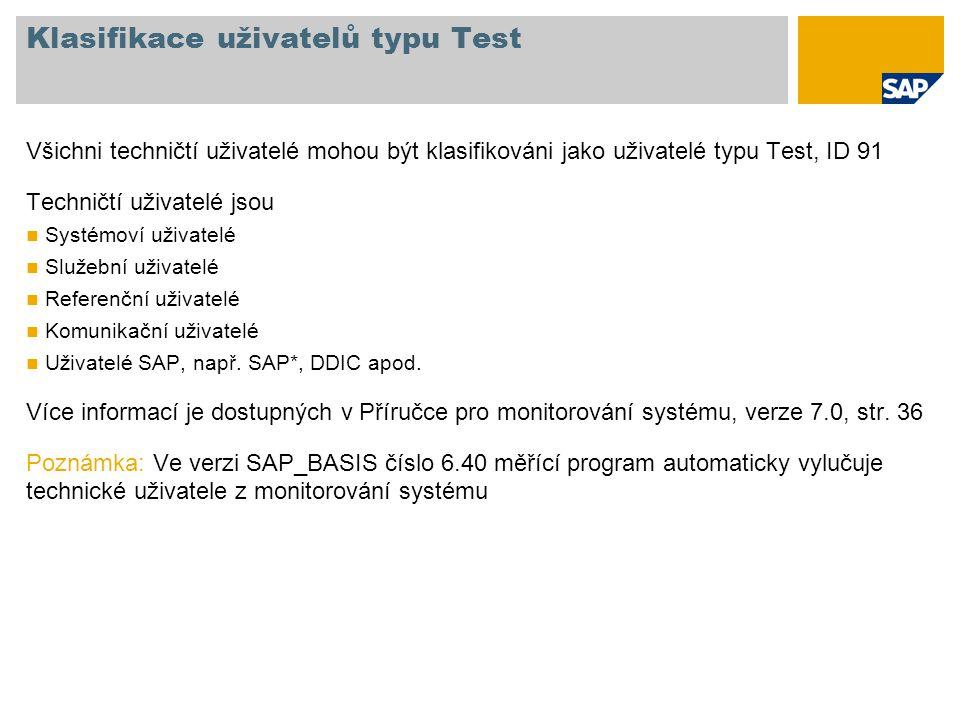 Klasifikace uživatelů typu Test