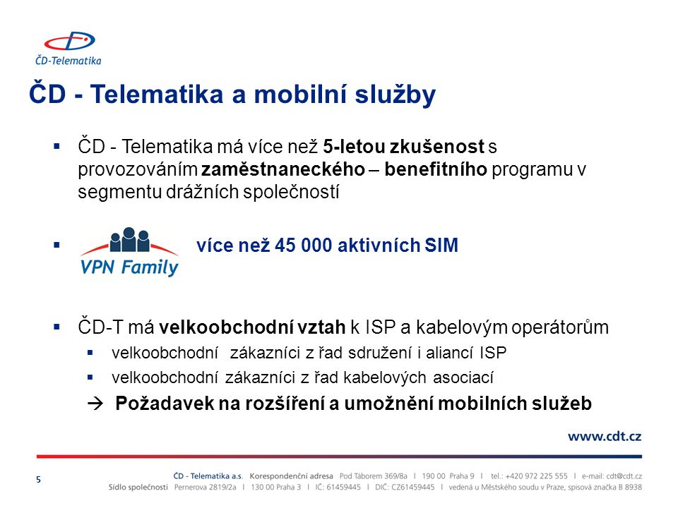 ČD - Telematika a mobilní služby