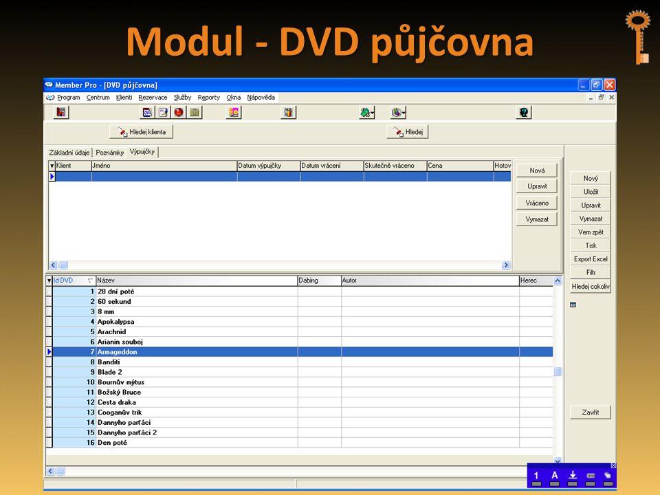 Modul - DVD půjčovna