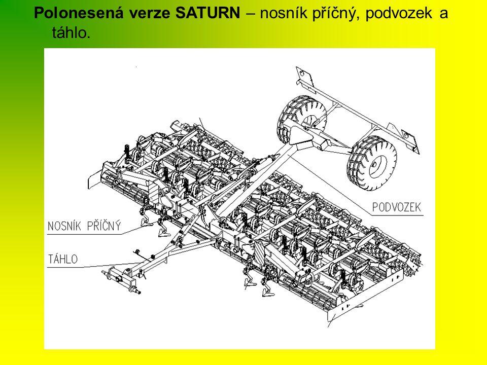 Polonesená verze SATURN – nosník příčný, podvozek a táhlo.
