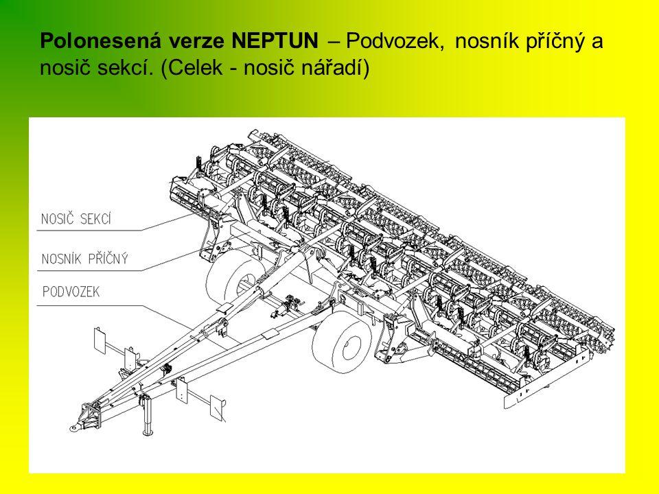 Polonesená verze NEPTUN – Podvozek, nosník příčný a nosič sekcí