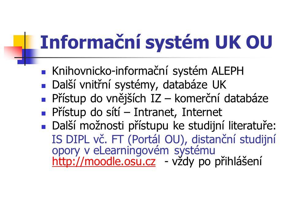 Informační systém UK OU