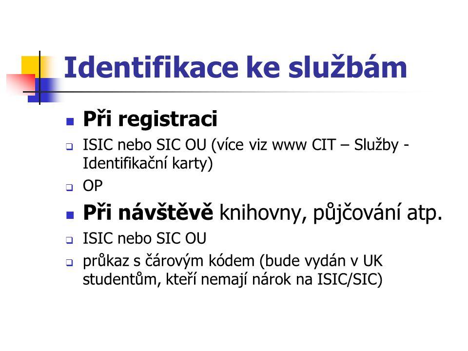 Identifikace ke službám