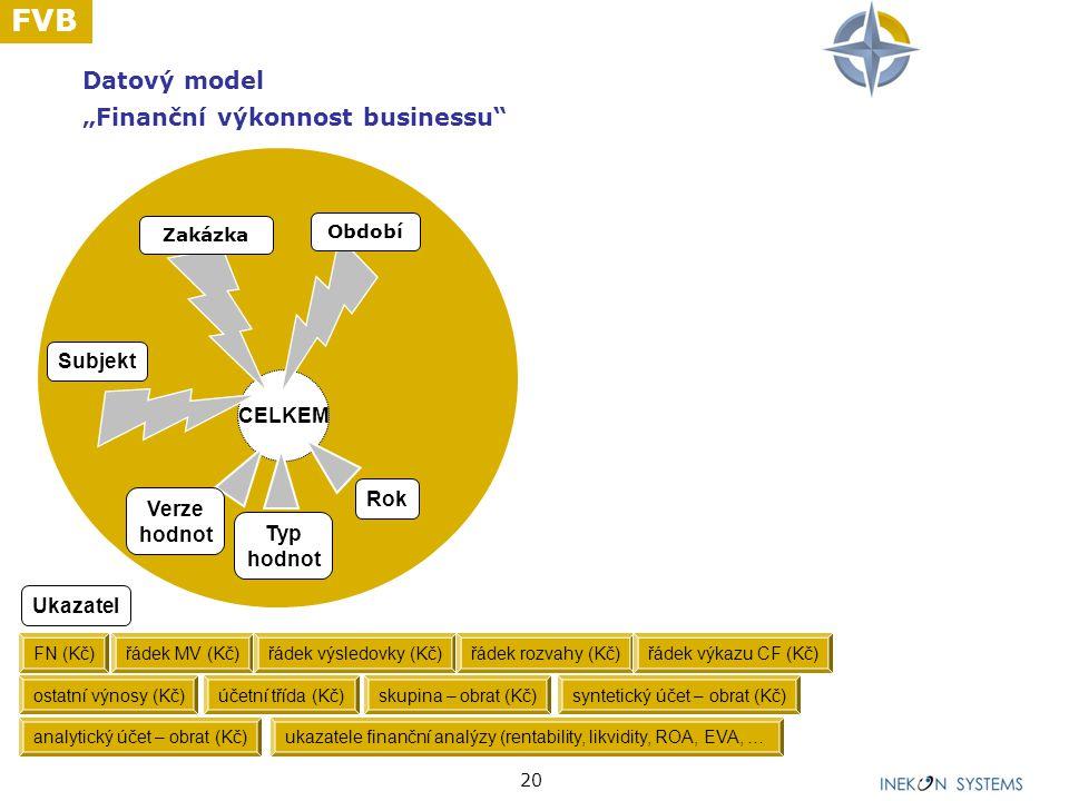 """Datový model """"Finanční výkonnost businessu"""