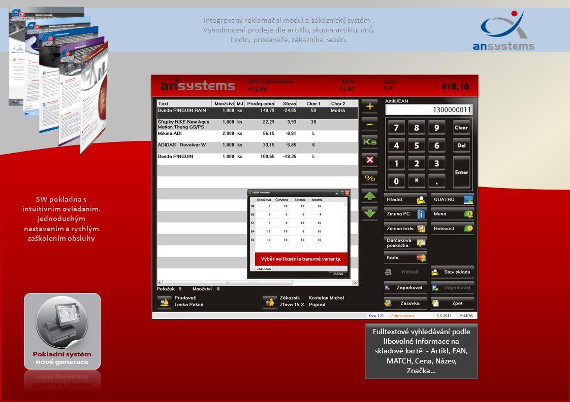 Integrovaný reklamační modul a zákaznický systém