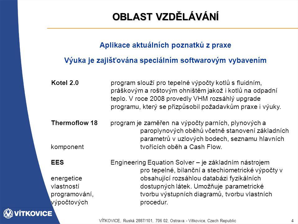 VÍTKOVICE, Ruská 2887/101, 706 02, Ostrava - Vítkovice, Czech Republic