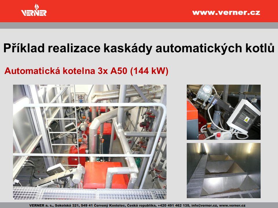 Příklad realizace kaskády automatických kotlů