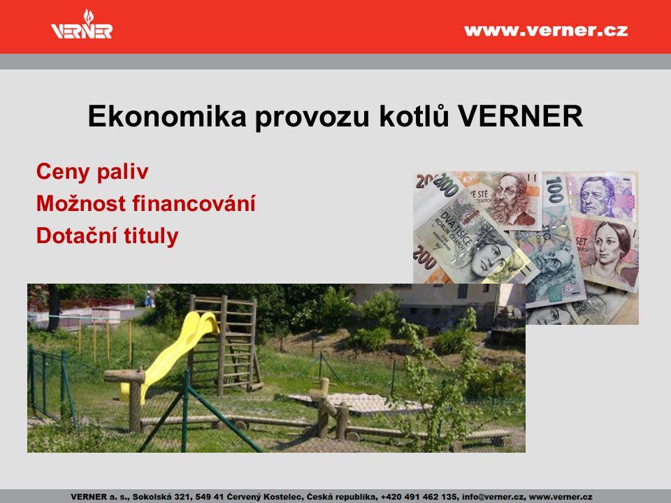 Ekonomika provozu kotlů VERNER