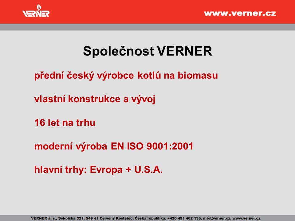 Společnost VERNER přední český výrobce kotlů na biomasu