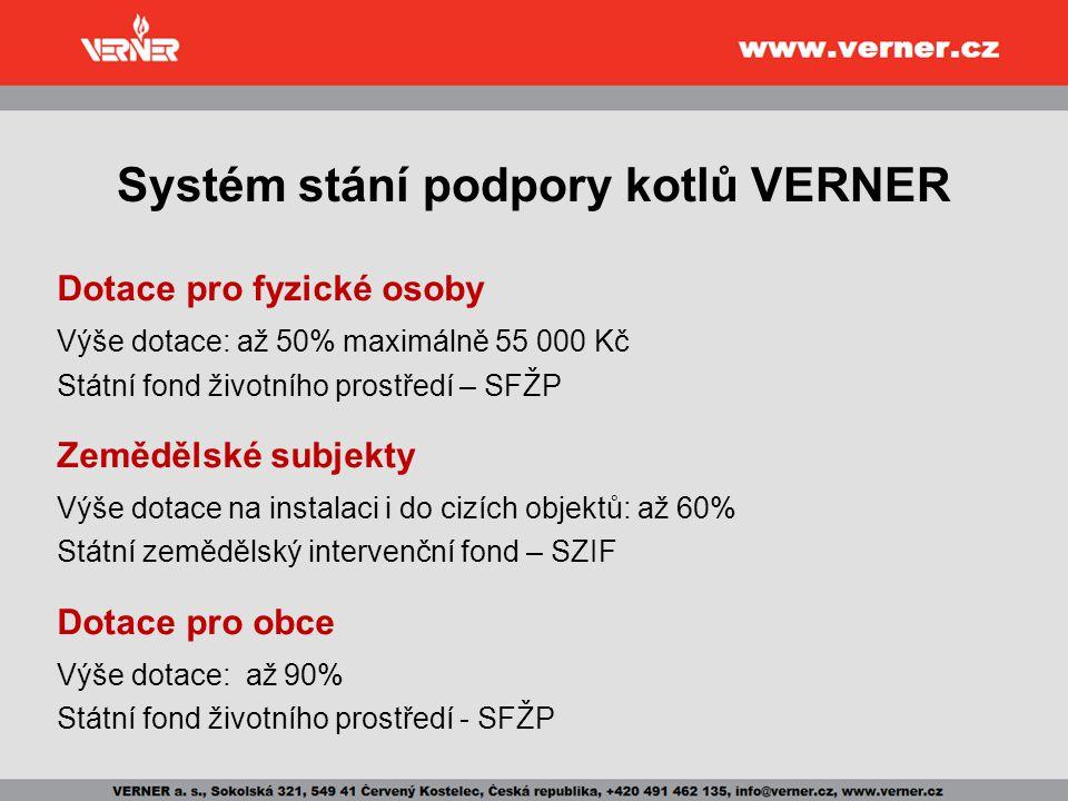 Systém stání podpory kotlů VERNER