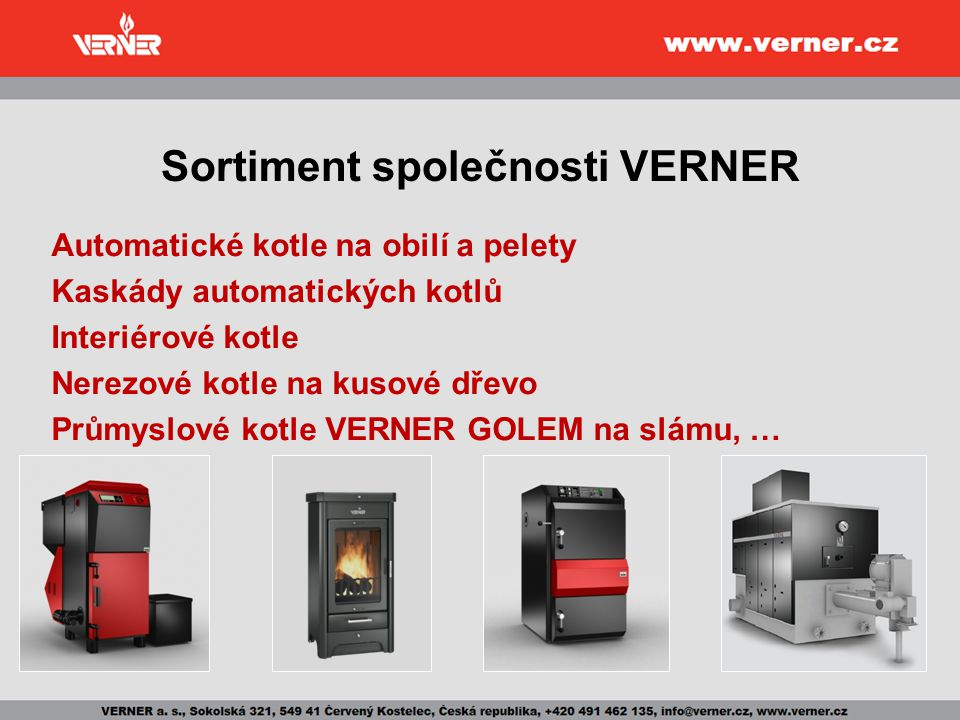 Sortiment společnosti VERNER