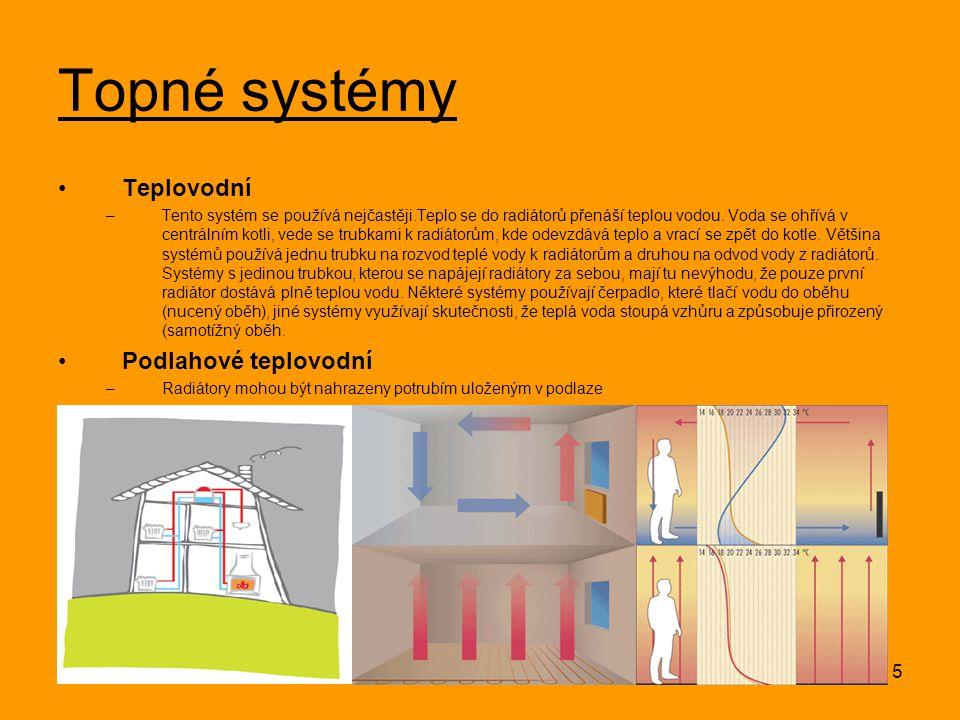 Topné systémy Teplovodní Podlahové teplovodní