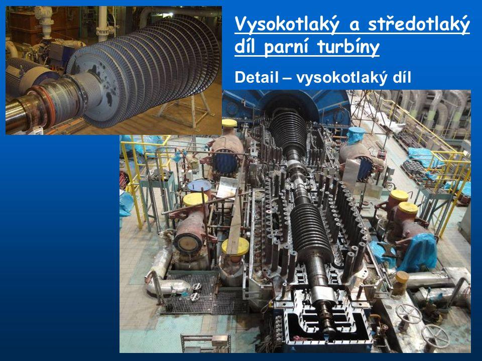 Vysokotlaký a středotlaký díl parní turbíny