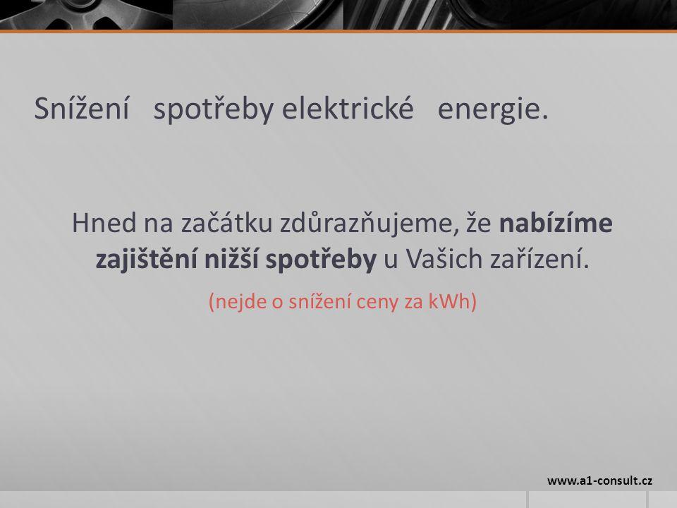 Snížení spotřeby elektrické energie.