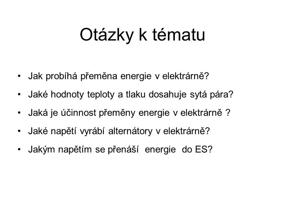 Otázky k tématu Jak probíhá přeměna energie v elektrárně