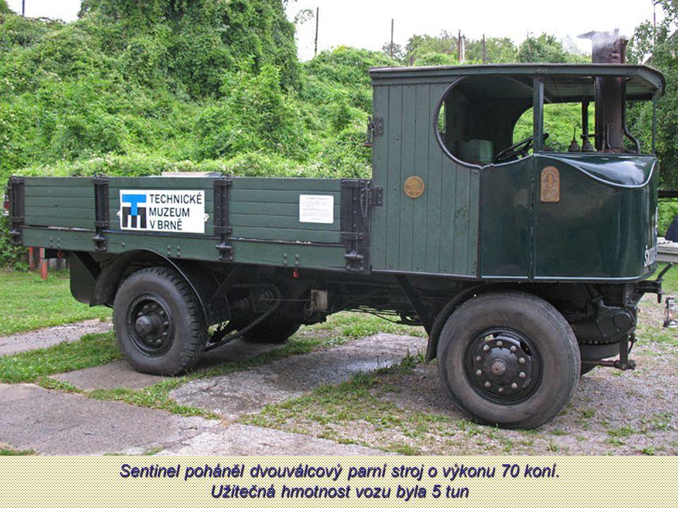 Sentinel poháněl dvouválcový parní stroj o výkonu 70 koní