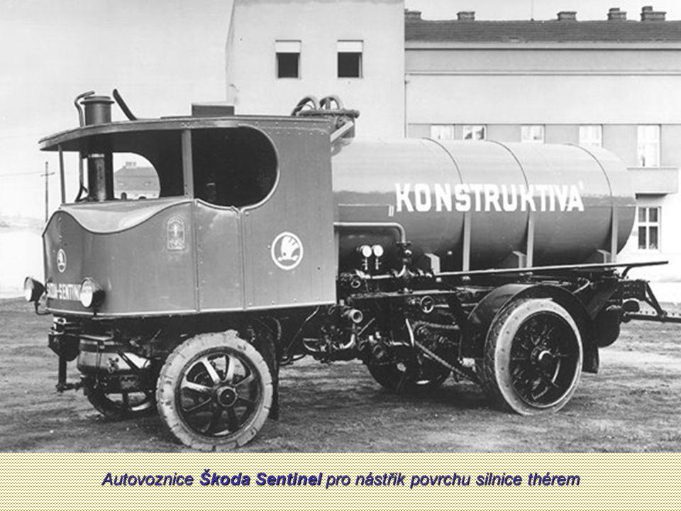 Autovoznice Škoda Sentinel pro nástřik povrchu silnice thérem