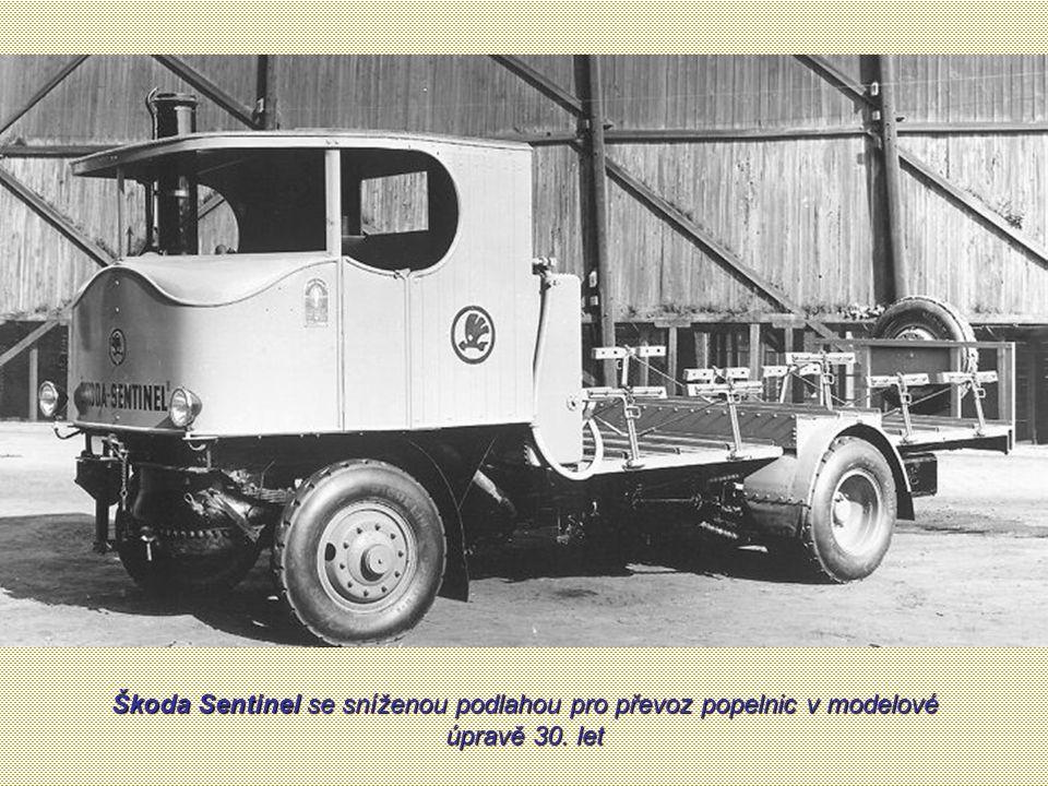 Škoda Sentinel se sníženou podlahou pro převoz popelnic v modelové úpravě 30. let