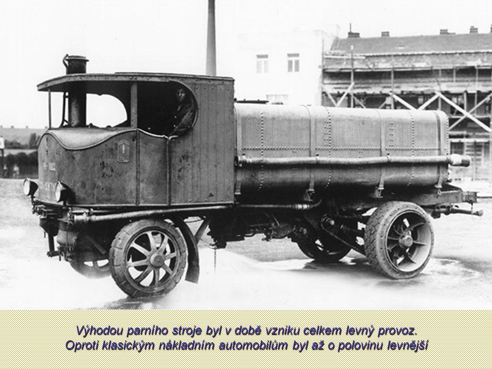 Výhodou parního stroje byl v době vzniku celkem levný provoz