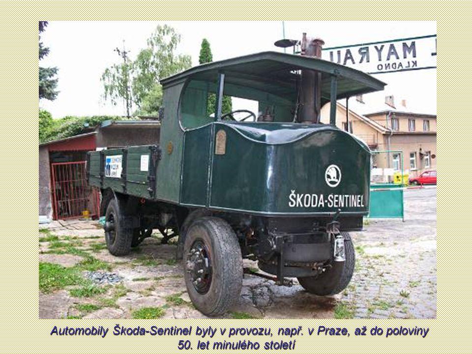 Automobily Škoda-Sentinel byly v provozu, např
