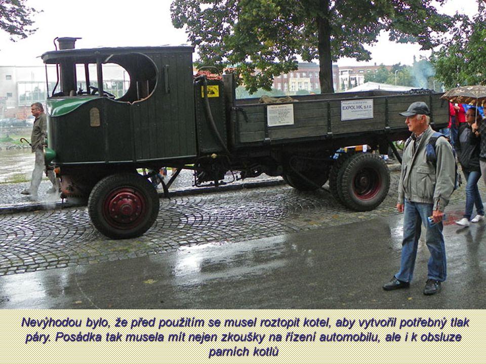 Nevýhodou bylo, že před použitím se musel roztopit kotel, aby vytvořil potřebný tlak páry.