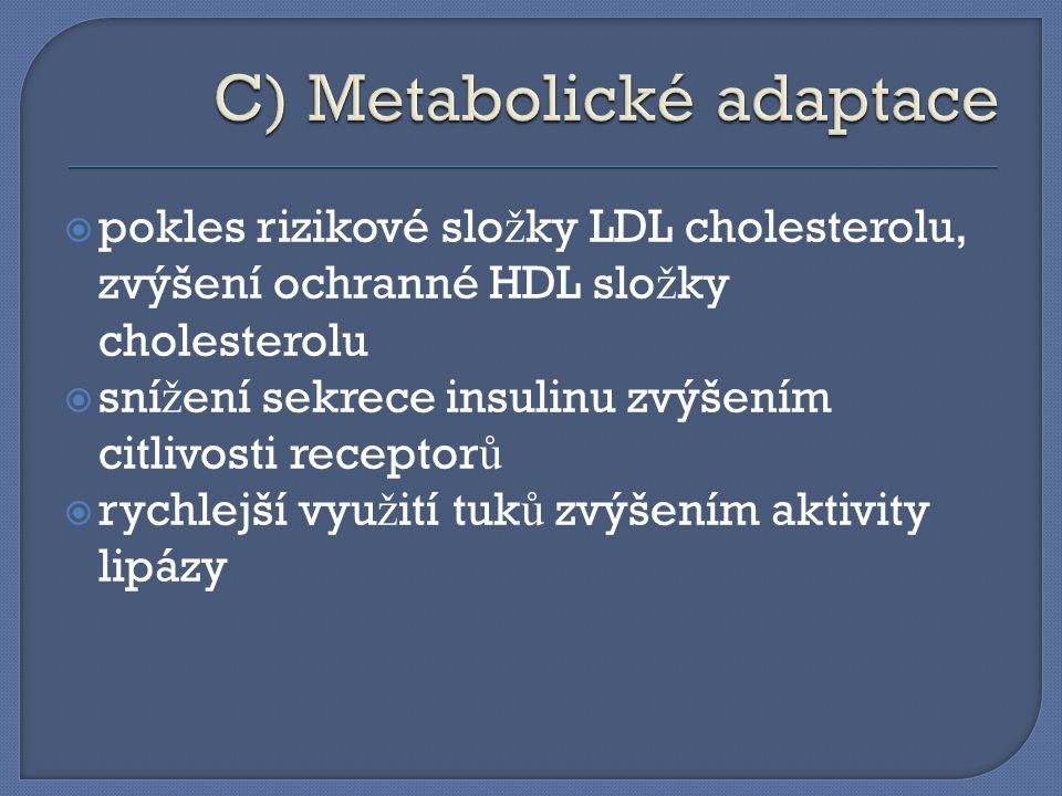C) Metabolické adaptace