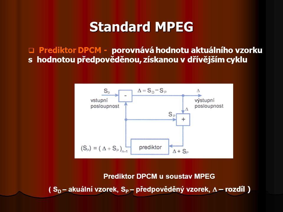 Prediktor DPCM u soustav MPEG