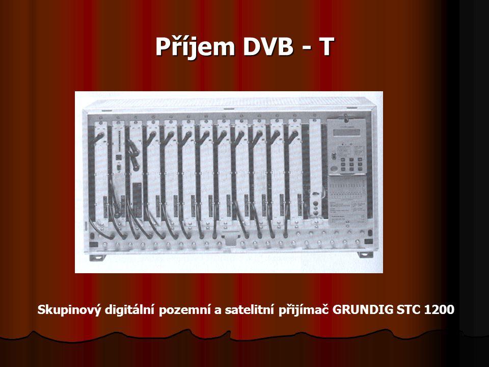 Příjem DVB - T Skupinový digitální pozemní a satelitní přijímač GRUNDIG STC 1200